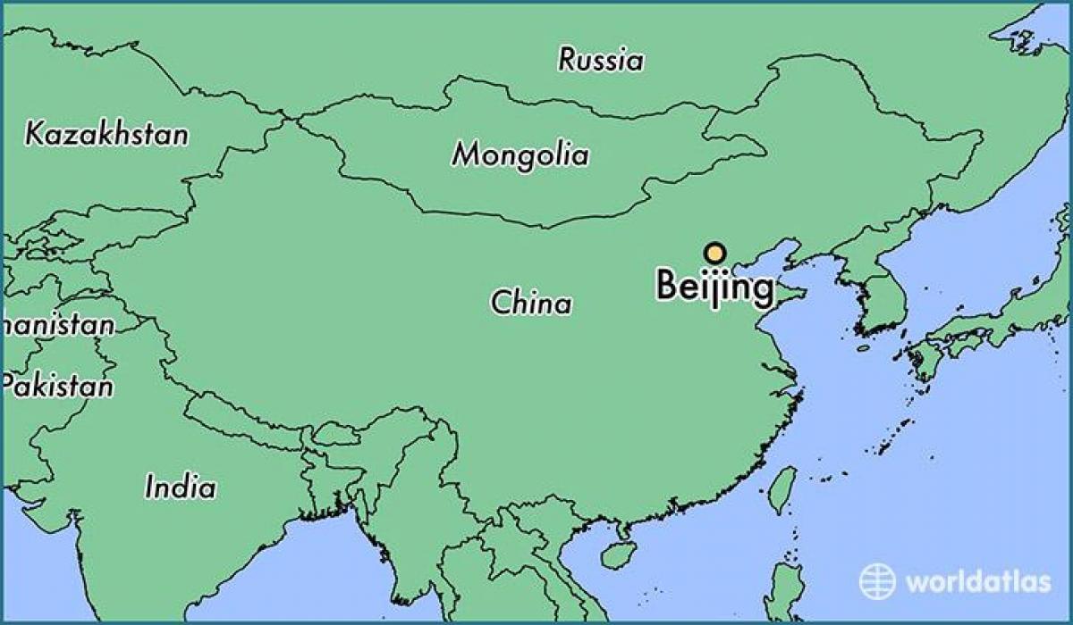 Beijing world map - Beijing China world map (China)